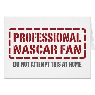 Professional NASCAR Fan Card