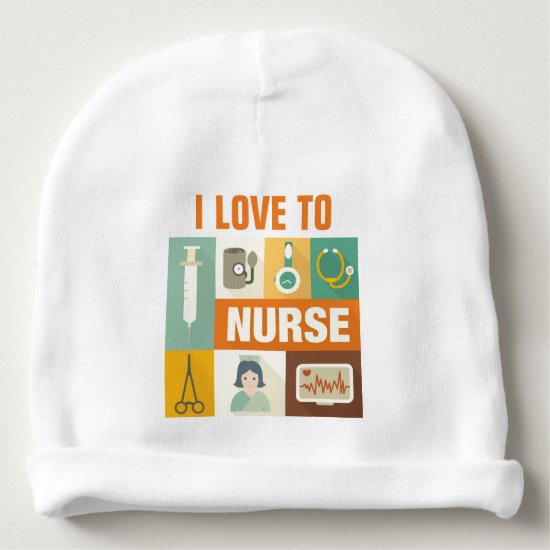 Professional Nurse Iconic Designed Baby Beanie