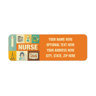Professional Nurse Iconic Designed Label