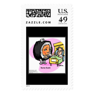 Professional Nurse Sushi Real USPS Stamps Stamp