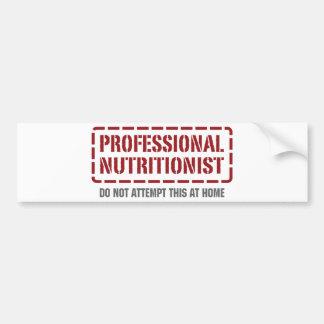 Professional Nutritionist Car Bumper Sticker