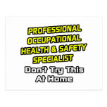Professional Occ Health and Safety Specialist Postcards