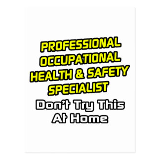 Professional Occ Health and Safety Specialist Postcard