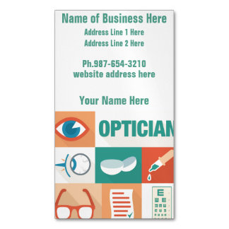 Professional Optician Iconic Design Magnetic Business Card