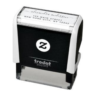 Professional or Personal Elegant Return Address Self-inking Stamp