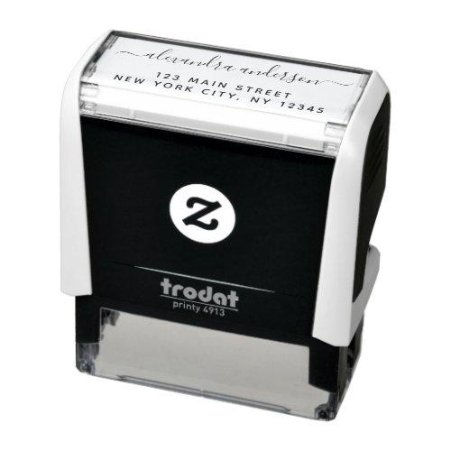 Professional or Personal Elegant Return Address Self_inking Stamp