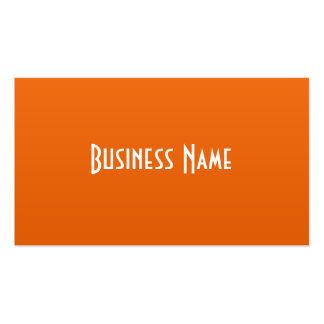 Professional Orange Business Card
