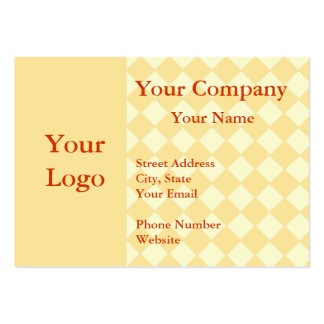 Professional orange checkered business cards