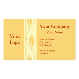 Professional orange leaf business cards