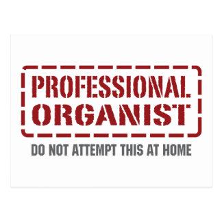 Professional Organist Postcard