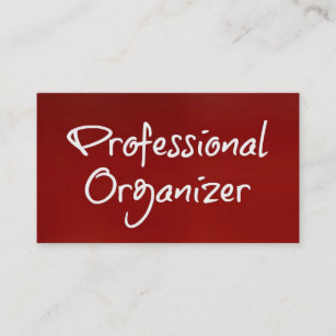 Professional organizer business cards templates zazzle professional organizer brushed red business card colourmoves