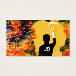 Spray paint business cards templates zazzle professional painter business card colourmoves