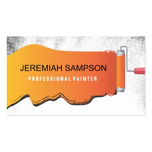 Professional painter business card zazzle for Professional painter business card
