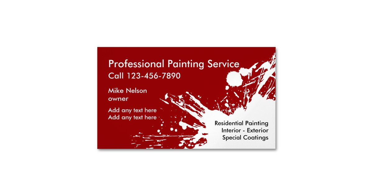 Generous House Painting Business Cards Photos - Business Card Ideas ...