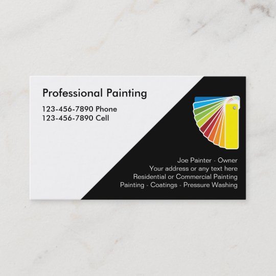 professional painter business cards - Painting Business Cards