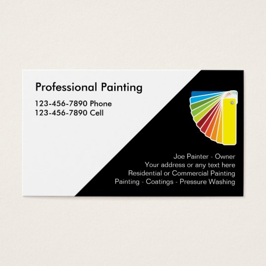 How To Start A Painting Business From Scratch: Professional Painter Business Cards
