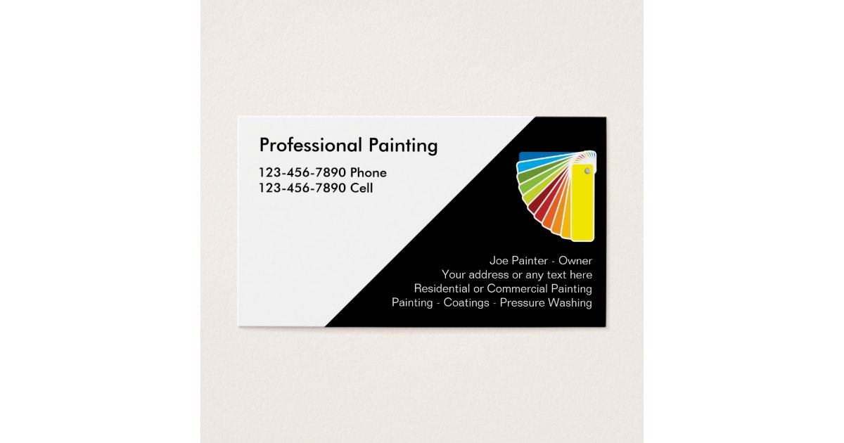 Professional painter business cards zazzlecom for Professional painter business card