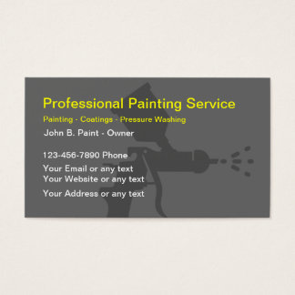 Pressure washing business cards templates zazzle for Professional painter business card