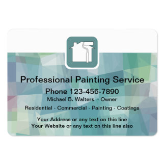 Professional Painter Large Business Card
