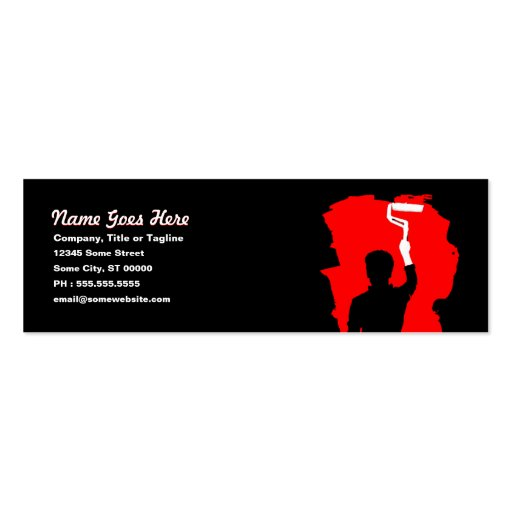 Professional painter mini business card zazzle for Professional painter business card
