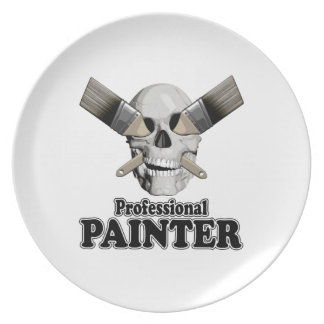 Professional Painter Party Plate