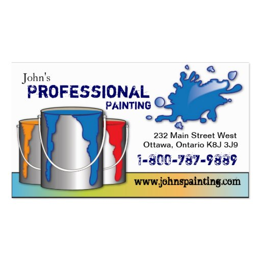 Professional painting business card zazzle for Professional painter business card