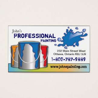 Professional Painting Business Card