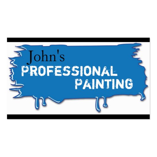 Professional Painting Business Card Blue