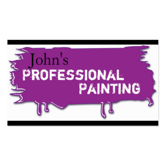 Professional Painting Business Card Purple
