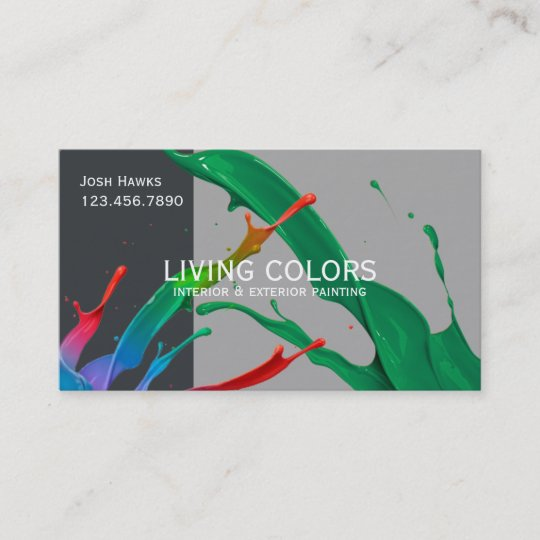 How To Start A Painting Business From Scratch: Professional Painting Company Business Card