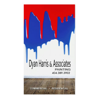 Professional Painting, Painters, Home Improvement Business Card Templates