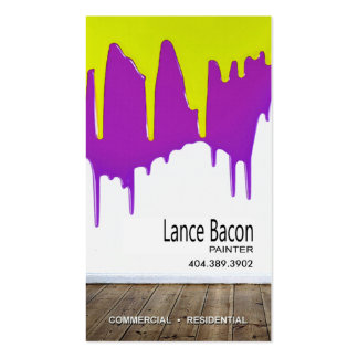 Professional Painting, Painters, Home Improvement Business Card Template