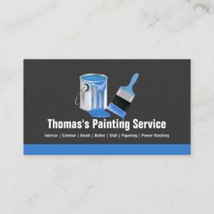 Painter business cards zazzle professional painting service blue painter brush business card colourmoves