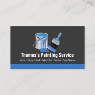 Painter business cards templates zazzle professional painting service blue painter brush business card colourmoves