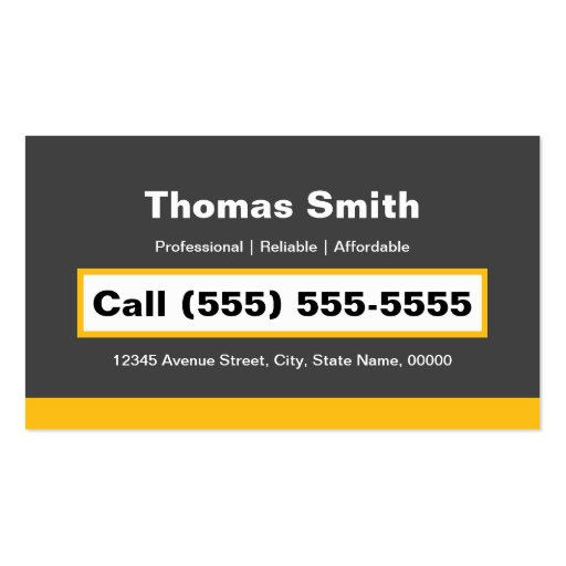 Professional Painting Service Painter Paint Brush Business Card (back side)