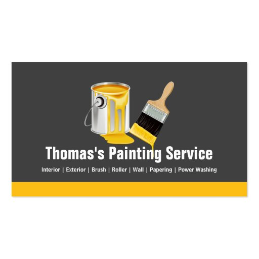 Professional Painting Service Painter Paint Brush Business Card (front side)