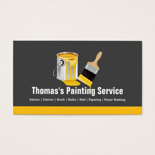 20 awesome business card template paint graphics business cards ideas paint brush business cards templates zazzle colourmoves Images