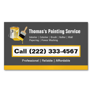 Professional Painting Service Painter Paint Brush Business Card Magnet