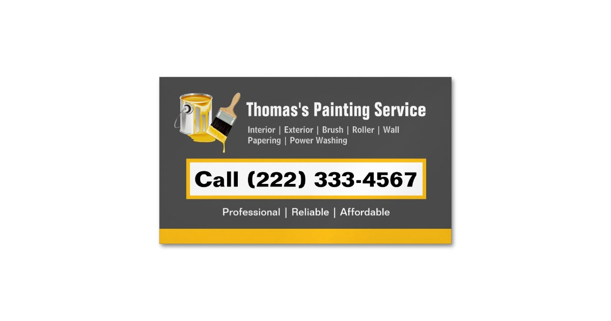 Professional painting service painter paint brush business card professional painting service painter paint brush business card magnet zazzle colourmoves