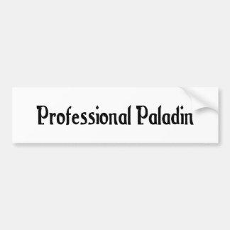 Professional Paladin Bumper Sticker