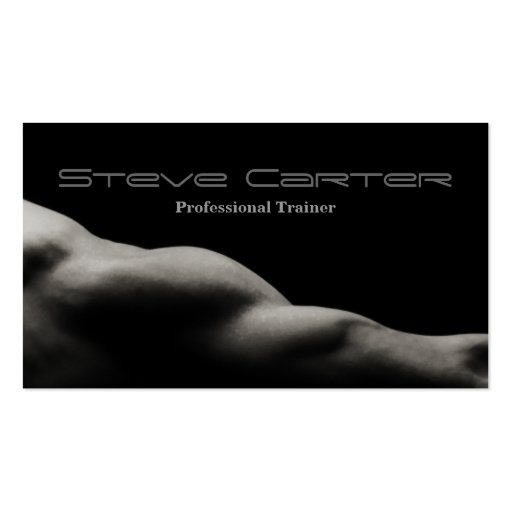 professional Personal Trainer / Bodybuilder Card Business Card