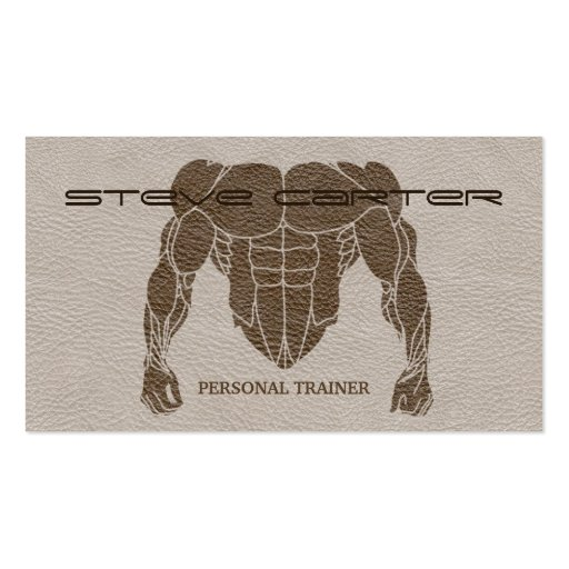 professional Personal Trainer / Bodybuilder Card Business Cards