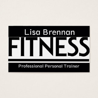 Professional Personal Trainer / Fitness Club Sport Business Card