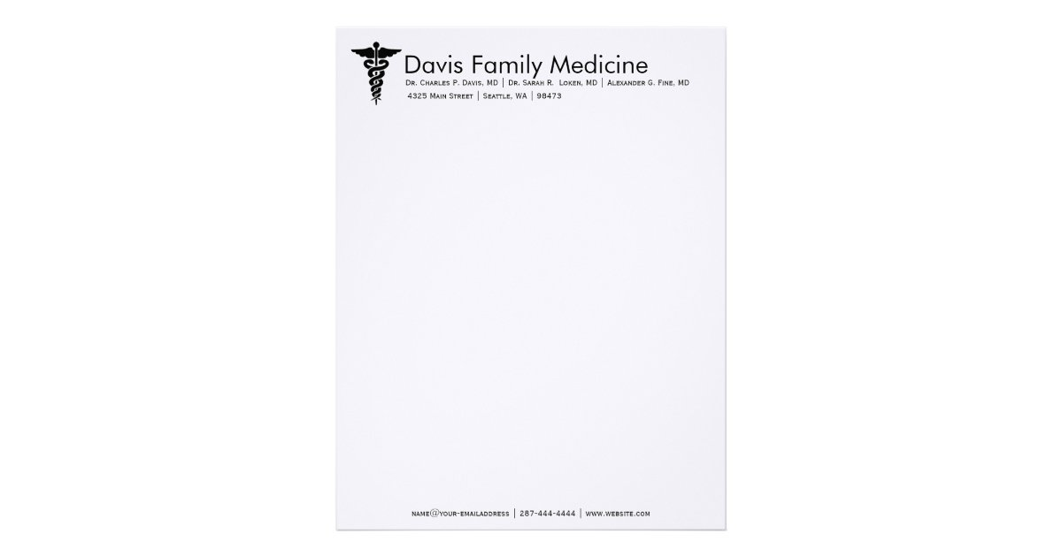 professional personalized doctors stationery zazzlecom