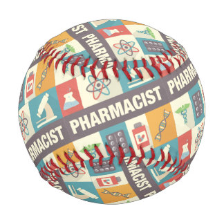 Professional Pharmacist Iconic Designed Baseball