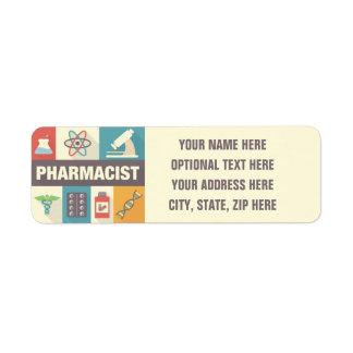 Professional Pharmacist Iconic Designed Label