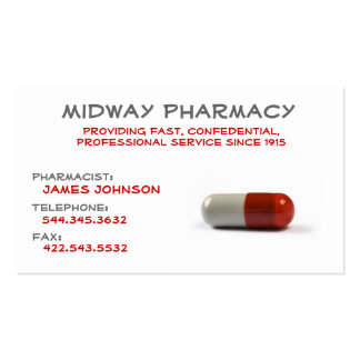 Professional Pharmacy business card