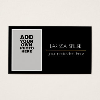 professional photo black business card