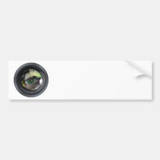 Professional photo lens bumper sticker