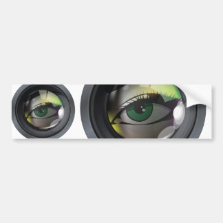 Professional photo lens illustration bumper sticker
